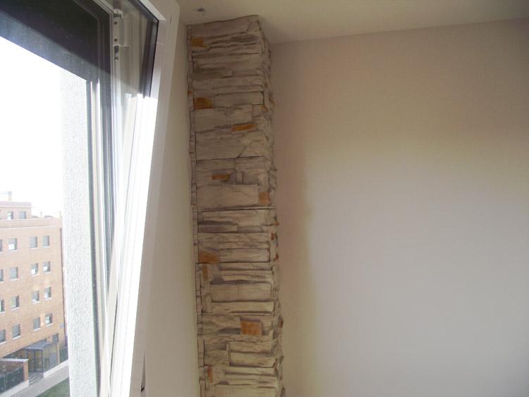 Salones con piedra decorativa papeles pintados with - Salones con piedra decorativa ...
