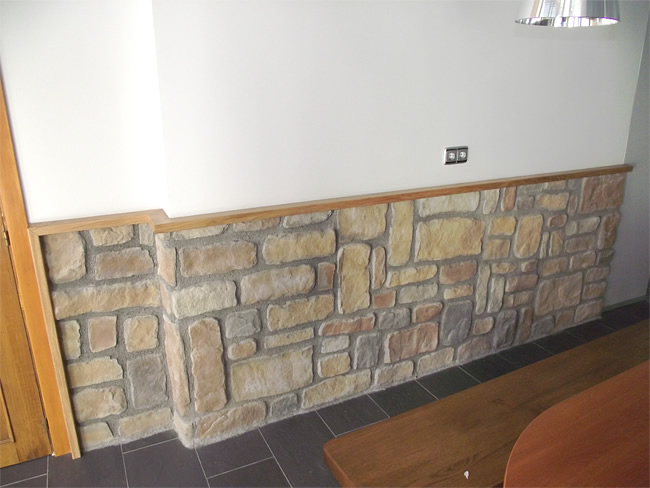 Estucos pintura decorativa pladur chimeneas paneles de - Zocalos de piedra ...